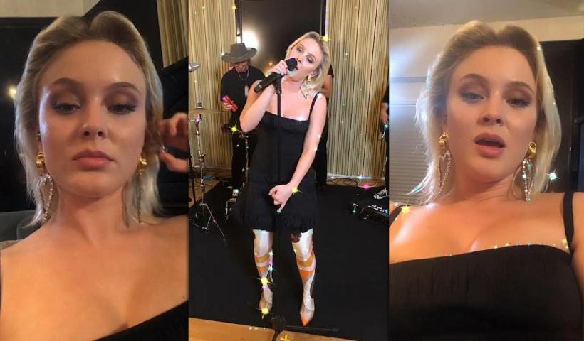 Zara Larsson's Instagram Live Stream from August 19th 2020.