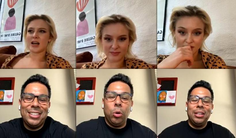 Zara Larsson's Instagram Live Stream from August 4th 2020.