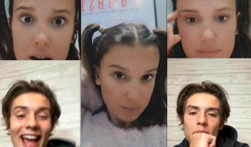 Millie Bobby Brown's Instagram Live Stream with Louis Partridge from September 27th 2020.