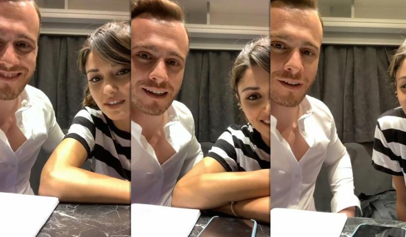Kerem Bürsin's Instagram Live Stream with Hande Erçel from September 9th 2020.