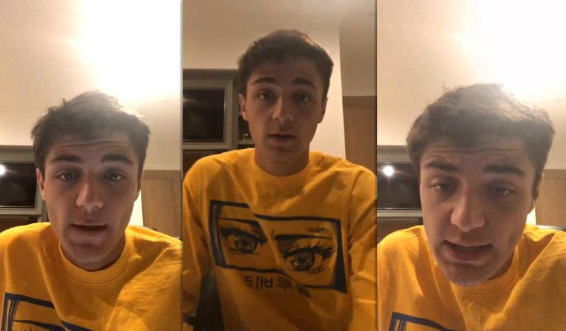 Asher Angel's Instagram Live Stream from October 12th 2020.