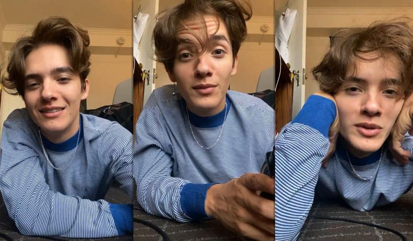 Noah Urrea's Instagram Live Stream from October 19th 2020.