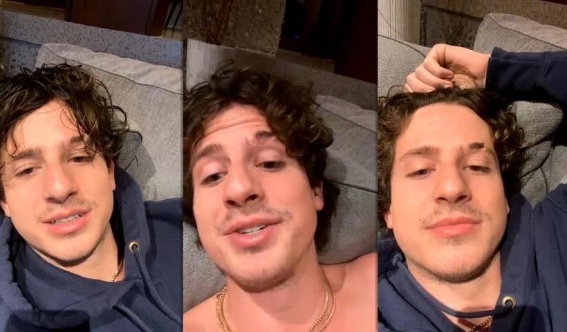 Charlie Puth's Instagram Live Stream from January 10th 2021.