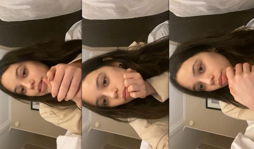Jenna Ortega's Instagram Live Stream from January 17th 2021.