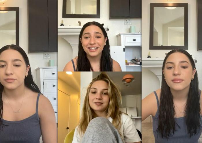 Mackenzie Ziegler's Instagram Live Stream with Maddie from January 15th 2021.