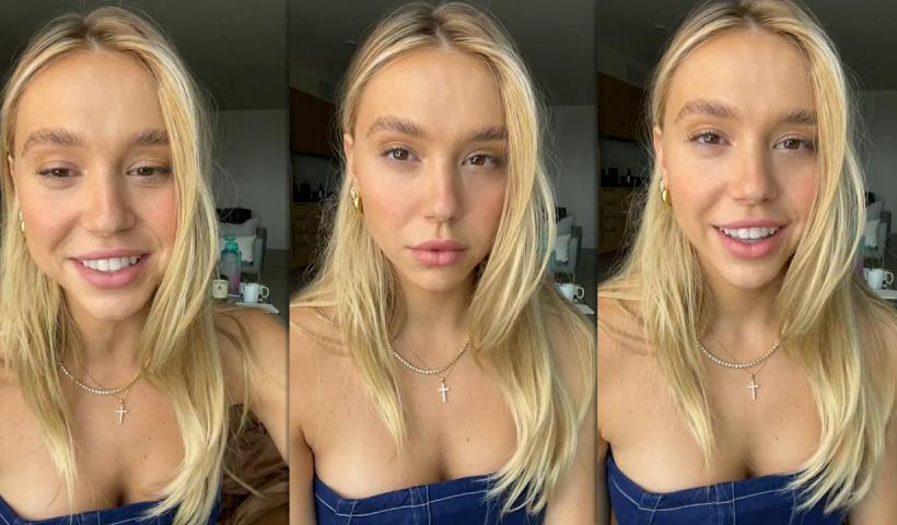 Alexis Ren's Instagram Live Stream from April 14th 2021.