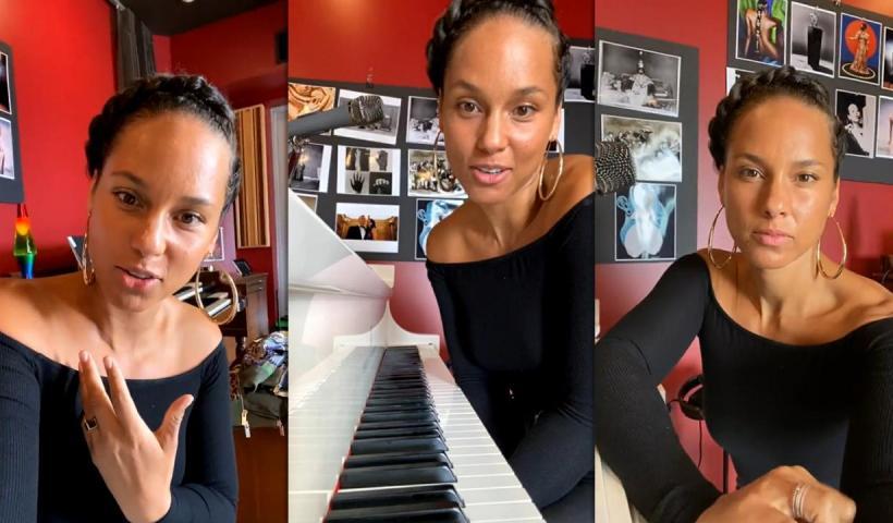 Alicia Keys' Instagram Live Stream from April 14th 2021.