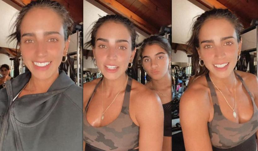 Bárbara de Regil's Workout Instagram Live Stream with Mar from April 9th 2021.