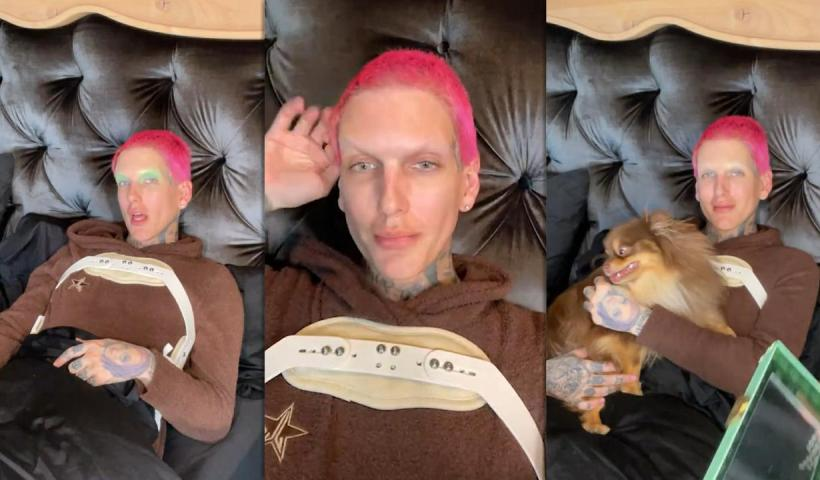 Jeffree Star's Instagram Live Stream from April 18th 2021.