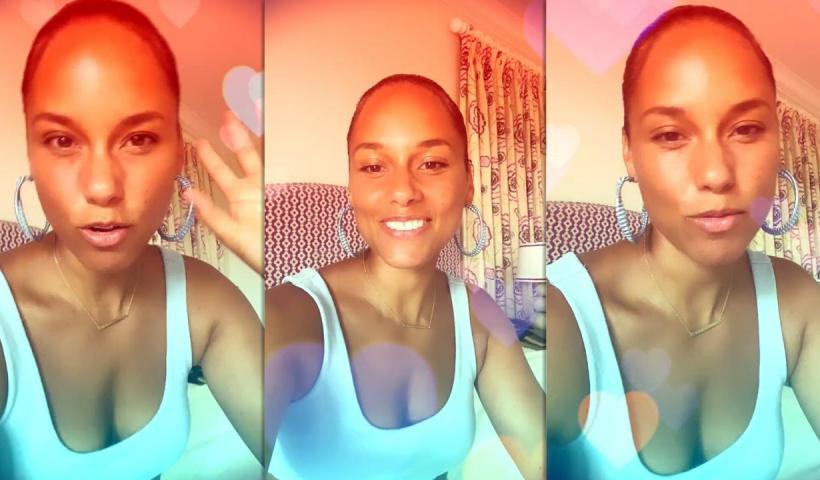Alicia Keys' Instagram Live Stream from June 25th 2021.