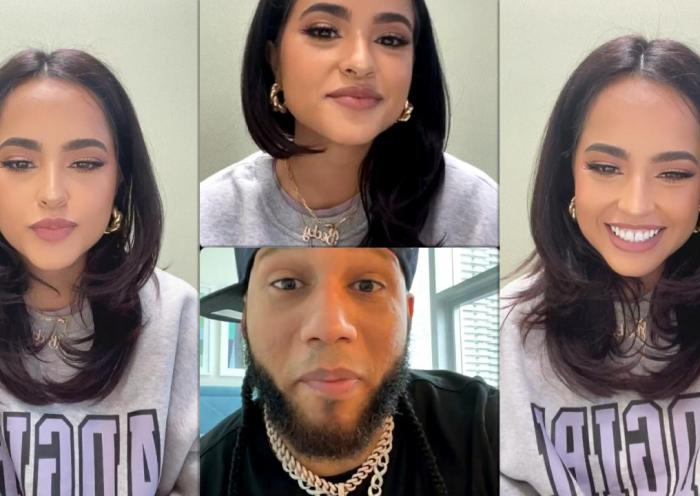 Becky G's Instagram Live Stream with El Alfa El Jefe from June 15th 2021.