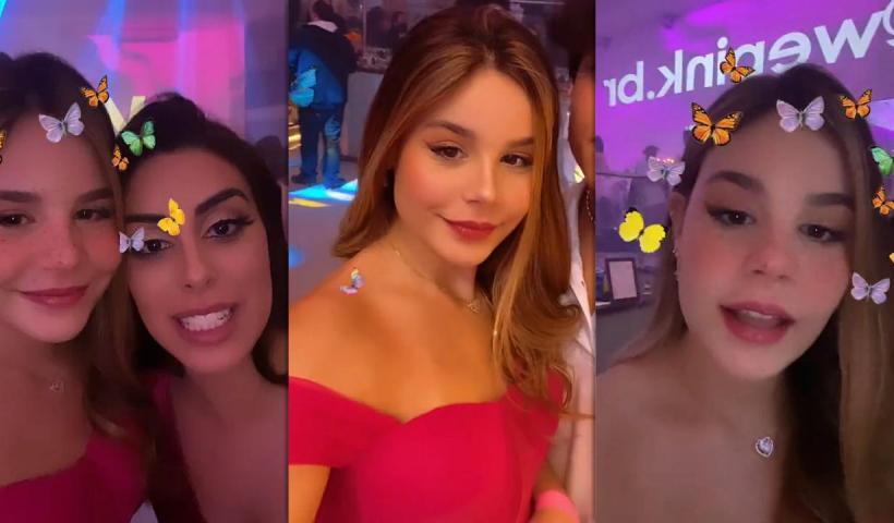 Luara Fonseca's Instagram Live Stream from September 16th 2021.