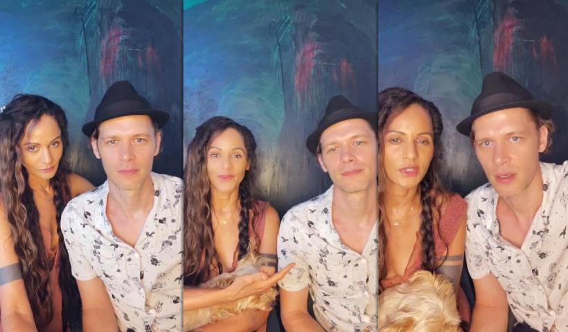 Joseph Morgan's Instagram Live Stream with his wife Persia White from September 9th 2021.