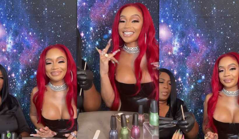 Saweetie's Instagram Live Stream from October 18th 2021.