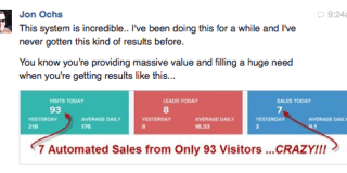 Marketing testimonial Jon Ochs