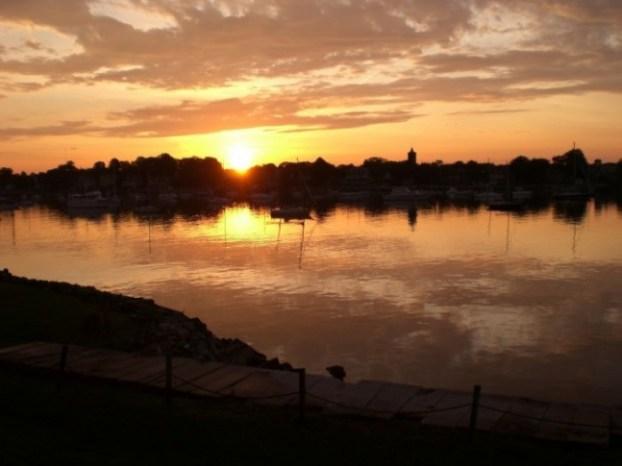 Whose Dream Are You Living? Sunrise over Naragansett Bay Newport Rhode Island USA