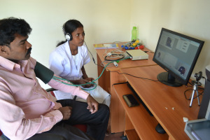 Tele Medicine Center in Chettichavadi village, Salem Dt