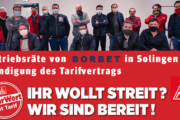 Videobotschaft des Betriebsrats von Borbet in Solingen: Wir lassen uns nicht spalten - Tarifvertrag an allen Standorten!