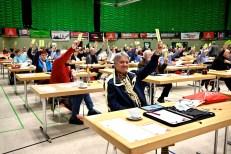 Delegierte bei der Arbeit