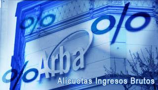 IIBB Alicuotas ARBA 2013