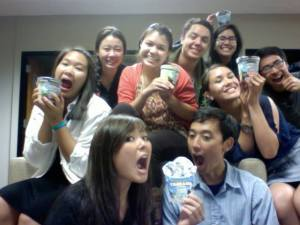 """Loyola Marymount students take part in the """"Fair Trade Snack"""" campaign"""