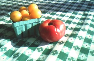 Plums and tomato copy