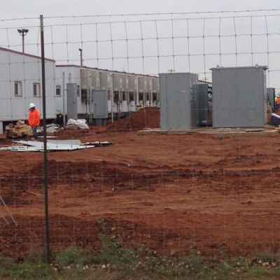 Family detention center being built in Dilley, Texas. [SOURCE: Joanne Kelsey]
