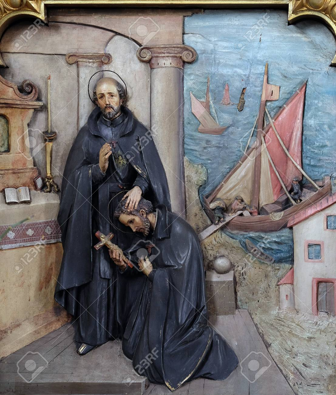 St.Ignatius sends St. Francis Xavier to the missions. Source: 123rf.com