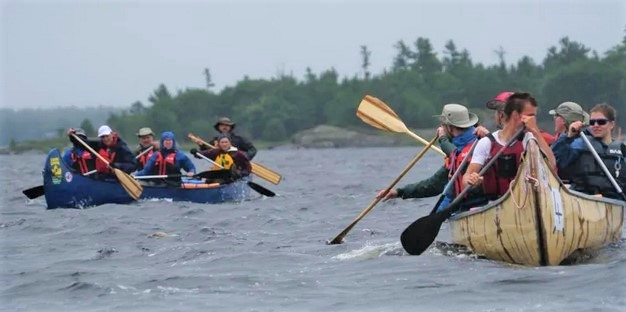 "CBC Jesuit Canoe Pilgrimage ""Courtesy of CBC"""