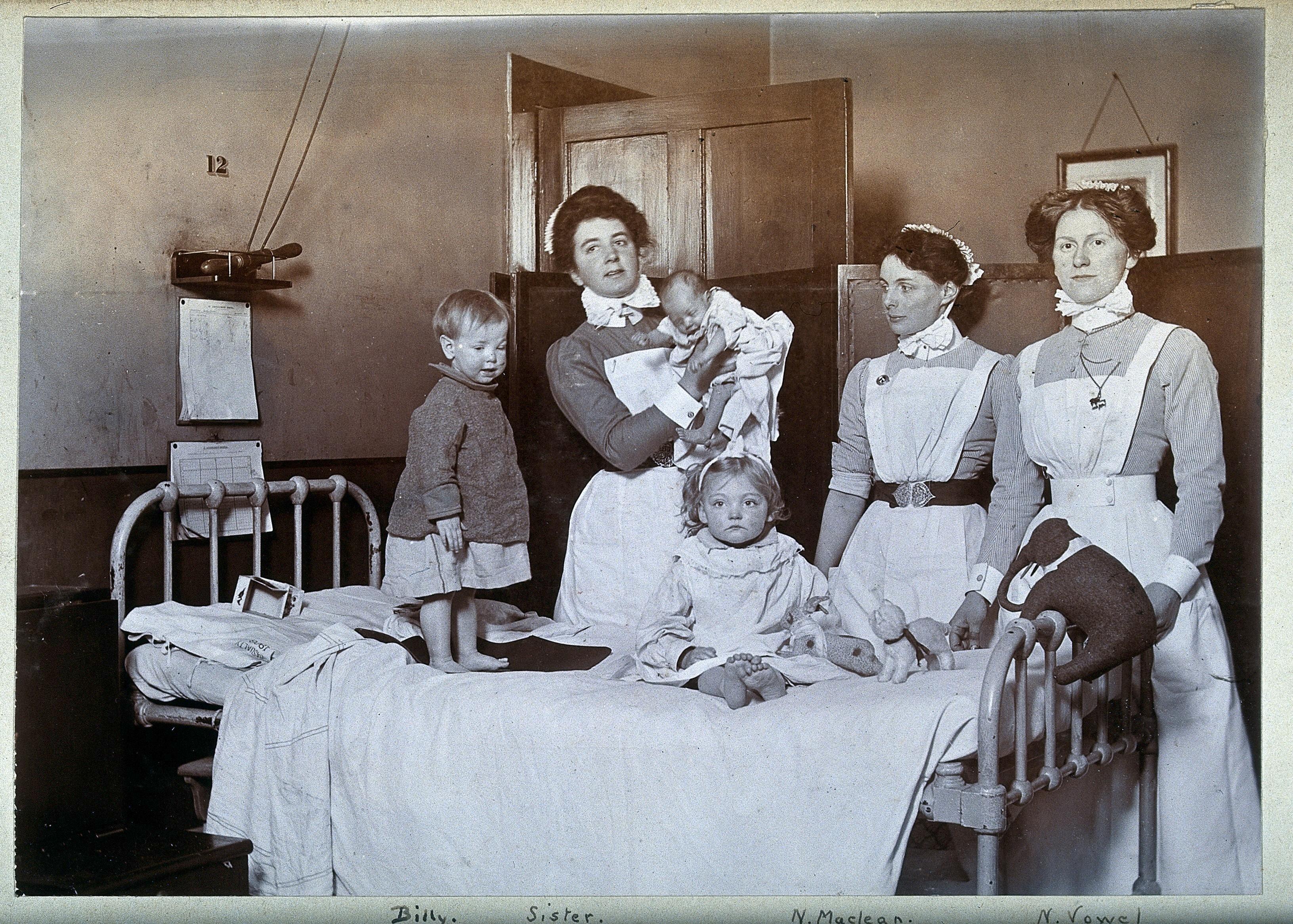 St Bartholomew's Hospital London c1890, courtesy of the Wellcome Collection