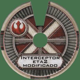 Scratchbuilt Master Yoda's modified Jedi Interceptor. X-Wing Miniatures