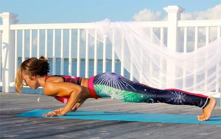Four Limbed Staff Yoga Pose