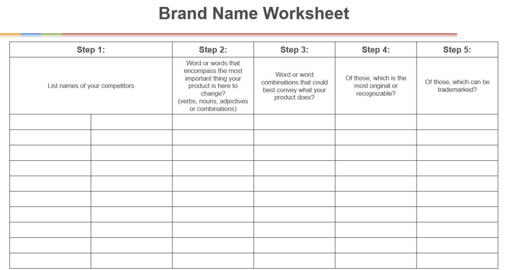 Name Worksheet