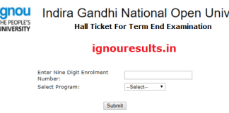IGNOU BCA Hall Ticket