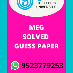 MEG-04 ASPECTS OF LANGUAGE SOLVED GUESS PAPER