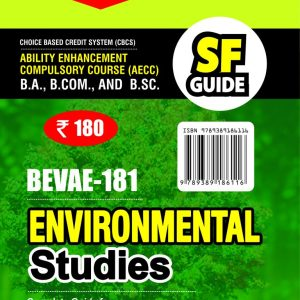 IGNOU 1st Semester CBCS AECC (Latest Edition) BEVAE-181 Environmentals Studies IGNOU Help Book with Solved Sample Papers and Important Exam Notes Plus Guess Paper