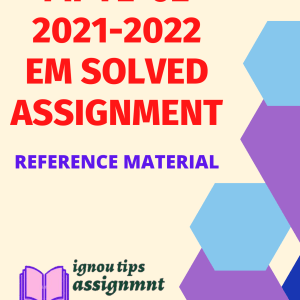 IGNOU MPYE-002 Solved Assignment in english 2021-22