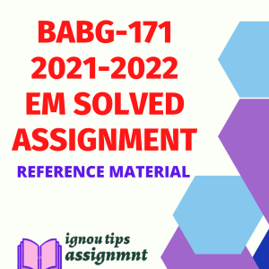 BABG-171 IGNOU English Solved Assignment 2021-2022