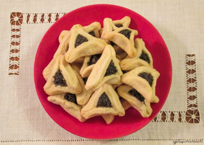 Hamantaschen, biscottini israeliani con ripieno di semi di papavero