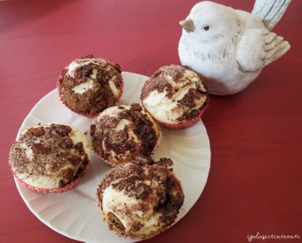Muffin alle noci pecan e cannella