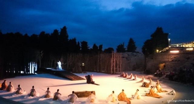 Spettacolo all'aperto al Teatro Greco di Siracusa