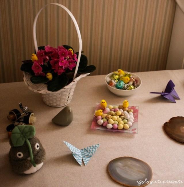 Tavola decorata per Pasqua