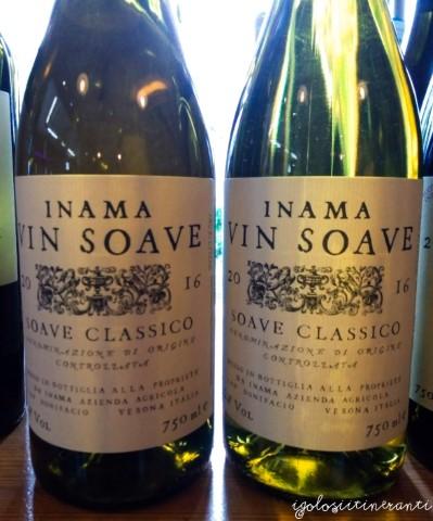 Bottiglie di Soave classico, azienda Inama