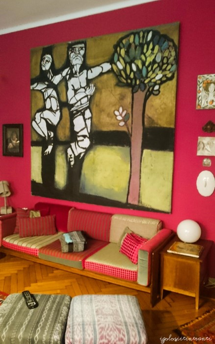 Salotto del Bed & art a Torino, un B&b molto bello e artistico