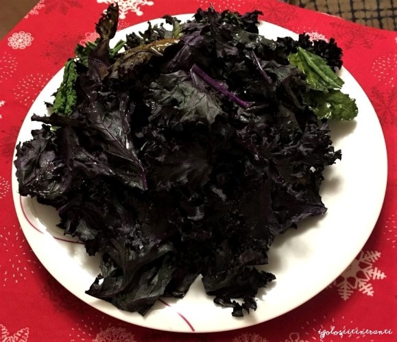 Chips di verdure al forno con tre ingredienti