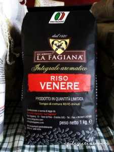 Riso varietà venere azienda La Fagiana