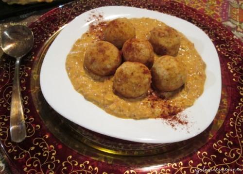 Malai kofta ai due Mugelli e salsa speziata agli anacardi e Tonno di Firenze