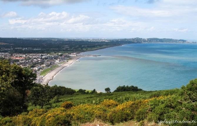 Panorama della costa da Bray Head (Irlanda)