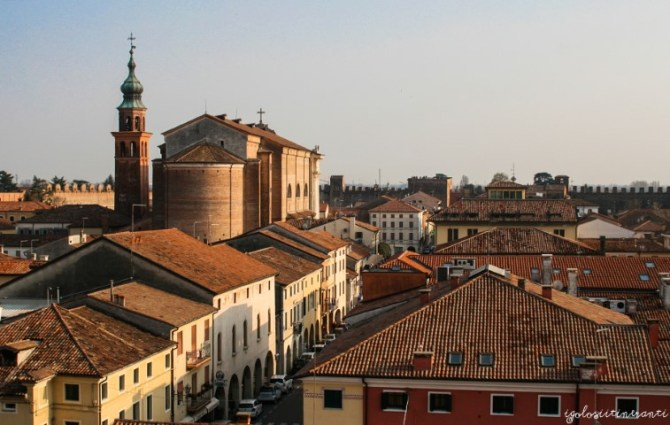 Vista di Cittadella dalle mura