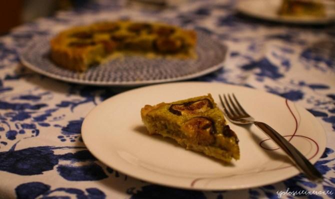 Crostata di fichi con crema frangipane al pistacchio, ricetta di Ottolenghi